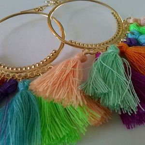 Jewelry - New Bright Tropical Hot Long Sexy Tassel Earrings